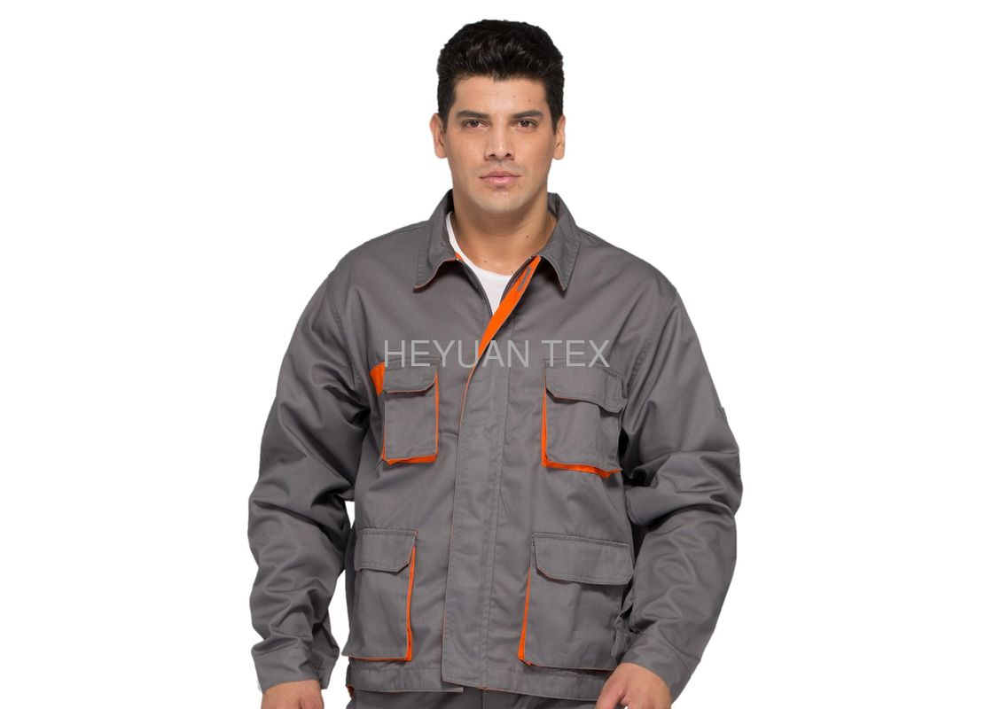 Professional Industrial Work Jackets / Double Seams Multi Pocket Work Jacket