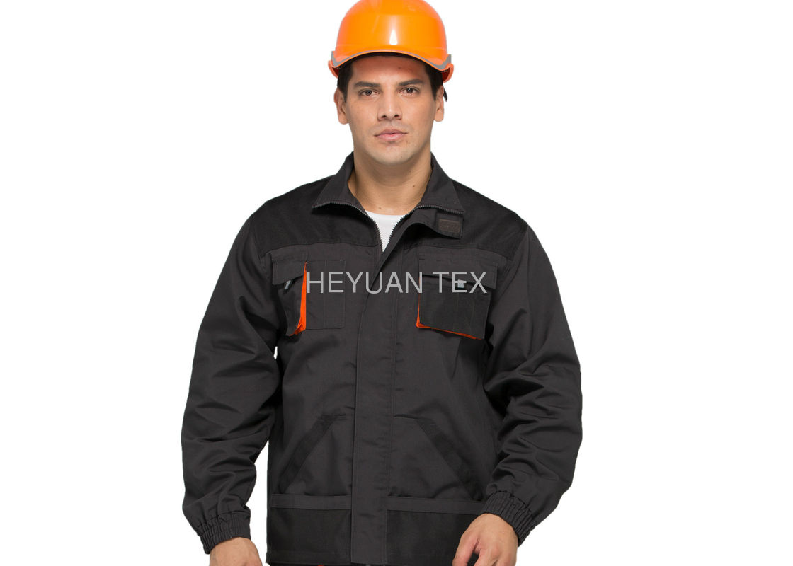 Canvas Classic Industrial Work Jackets Durable Anti Tear With Double Stitching