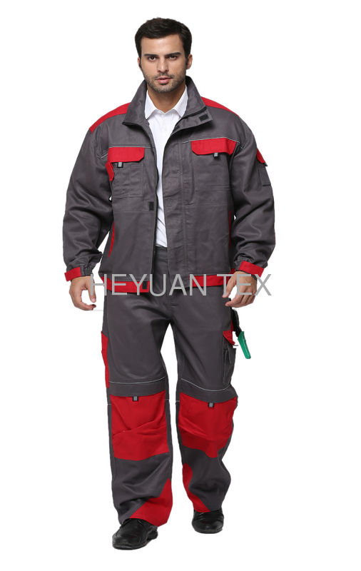 Fashion Industrial Work Uniforms / Safety Work Clothes With Multi Storage Pockets